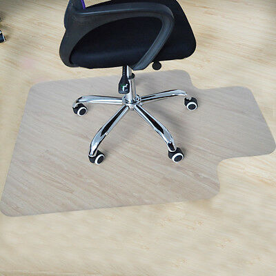 Lipped Office Chair Desk Mat Home Floor Protector PVC Plastic 90x120cm