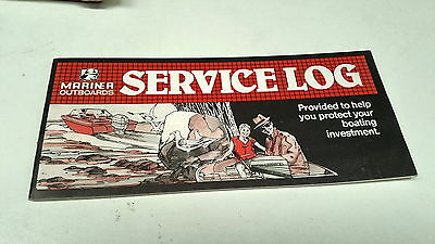 1987 MARINER OUTBOARDS Factory Service Log Book NOS
