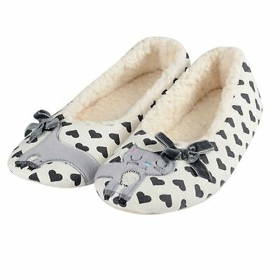 Ladies Cute Kitty Cat Slippers New Soft Plush Womens Sherpa Lining Non Slip Sole