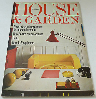 House and Garden  VINTAGE RETRO MAGAZINE November 1969