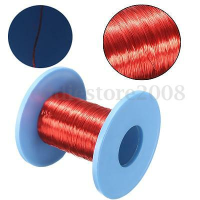 100m Red Magnet Wire Enameled Copper Wire Roll Magnetic Round Coil 0.2mm Dia