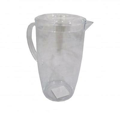High Quality Bello Clear Plastic 2 Litre Water Jug w/ Lid Picnic Kitchen