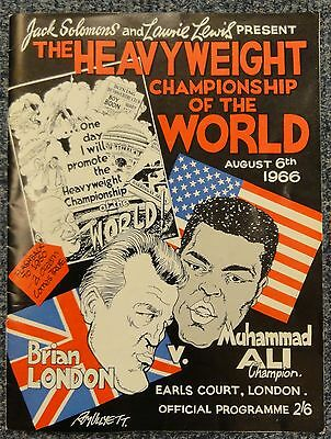 Original Muhammad Ali v Brian London Official Programme August 6th 1966