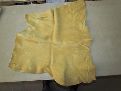 "Native American Light Coloured Home Tanned Moose Hide Soft 29"" In By 28"" In"