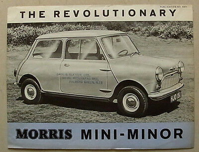 MORRIS MINI MINOR Car Sales Brochure c1959 #5971