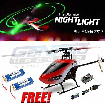 Blade Night 230 S Helicopter BNF Basic w/ SAFE Tech + 2X 1000mAh 3S Lipo Battery