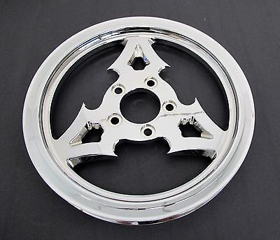 """Dna """"dagger"""" Chrome Billet Rear Drive Pulley 65 Tooth 1-1/8"""" Harley Custom"""