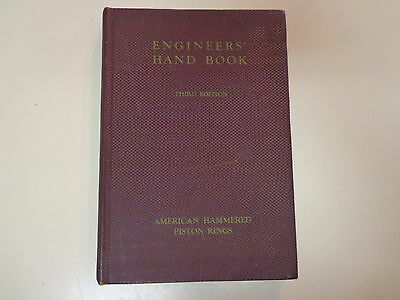 American Hammered Piston Ring Co 1935 Engineer Handbook Catalog Machinist