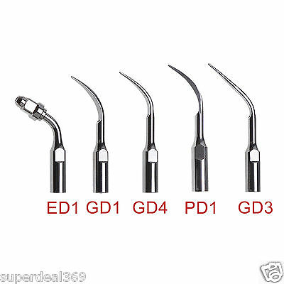 5x Dental Ultrasonic Perio/Endo Scaler Tips Scaling fit DTE SATELEC Handpiece