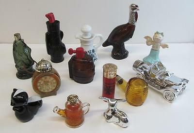 Lot of 13 Vintage Avon Cologne and After Shave Bottles Some Rare Sold AS IS 9592