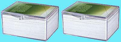 2 ULTRA PRO 100 COUNT CLEAR HINGED CARD STORAGE BOXES Case Holder Sports Trading