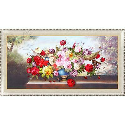 Huge Ribbon Embroidery Kit Flowers are Blooming Needlework Craft Kit XZ1045