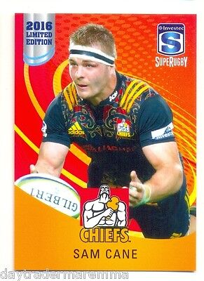 2016 Investec Super Rugby Limited Edition 06/25 Sam Cane - Chiefs