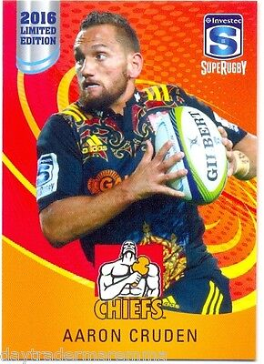 2016 Investec Super Rugby Limited Edition 07/25 Aaron Cruden - Chiefs