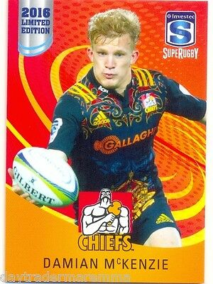 2016 Investec Super Rugby Limited Edition 09/25 Damian McKenzie - Chiefs