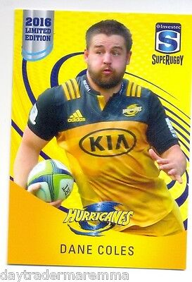 2016 Investec Super Rugby Limited Edition 12/25 Dane Coles - Hurricanes