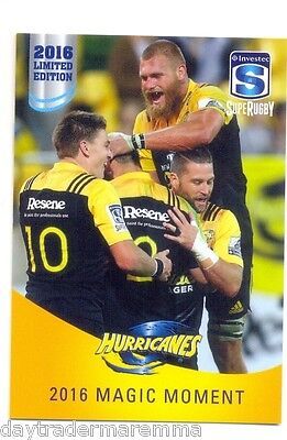 2016 Investec Super Rugby Limited Edition 15/25 2016 Magic Moment - Hurricanes