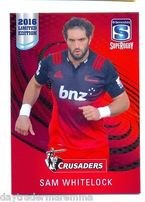 2016 Investec Super Rugby Limited Edition 17/25 Sam Whitelock - Crusaders