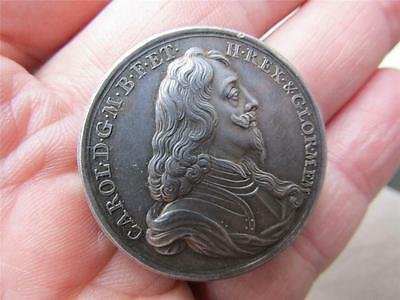 Original RARE  SILVER Medal 1649 DEATH OF CHARLES I by J & N Rottier  UNC