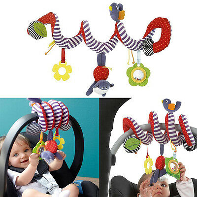 Baby Toddlers Pram Stroller Spiral Cot Hanging Musical Toys For Auto Car Seat LD