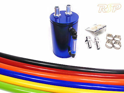 Blue Alloy Oil Catch Tank/Can Hose Colour Option Skyline Pulsar 200sx 350z