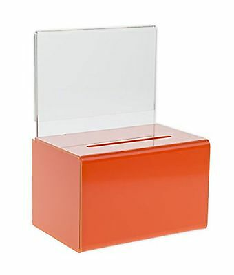 Source One LLC Small Orange Donation Box