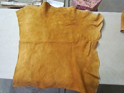 "Beautiful Native American Dark Home Tanned Moose Hide Soft 35"" In By 29"" In"