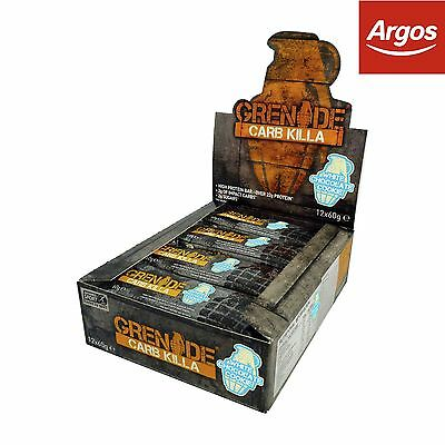 Grenade Carb Killa White Chocolate Bars - 12 x 60g -From the Argos Shop on ebay