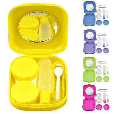 Responsible New Easy Carry Mini Pocket Contact Lens Cases With Mirror Kit Travel Convenient Contact Lens Case Container For Outdoor Eyewear Accessories