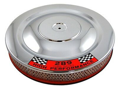 "Chrome 14"" x 2"" Air Cleaner Breather Ford Mustang Fastback Coupe Convertible GT"