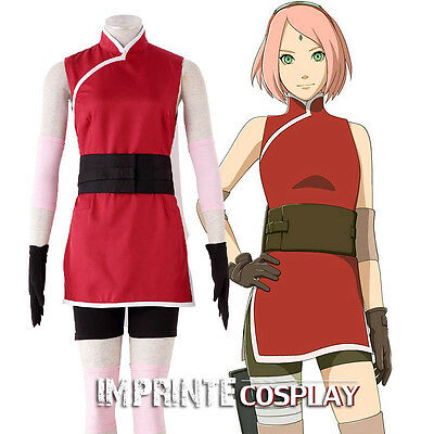 The Last Naruto the Movie Sakura Haruno Cosplay Costume Full Set FREE P&P