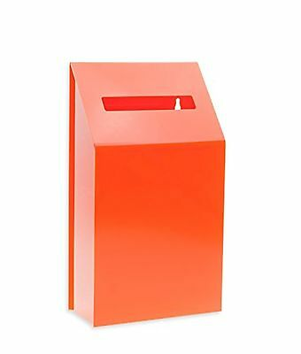 Source One LLC Orange  Collection / Comment / Donation Box - Medium - Counter...
