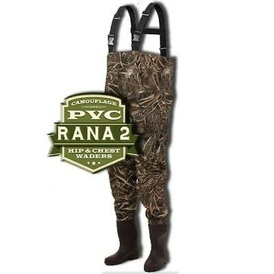 Frogg Toggs Rana II Camouflage Chest Waders PVC / Nylon Style 2715456 Free Ship