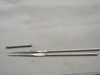 Two Metal Crochet Hooks Milward England no. 6 and 12