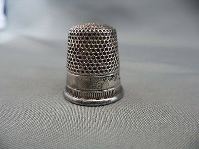 Vintage Sewing Collectible Sterling Silver Thimble Size 8