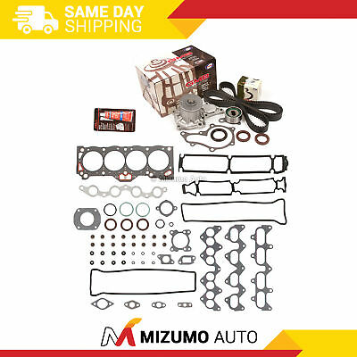 Fit Head Gasket Set Timing Belt Kit Water Pump 88-92 Toyota Geo 1.6 4AGE 4AGZE