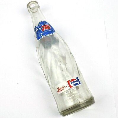 Pepsi Cola Greenville Bottling USA Coke Flasche 1973 - 75th Anniversary Bottle