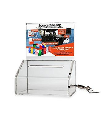 Source One Heavy Duty Donation / Ballot Box with Lock and Sign Holder (6 Pack...