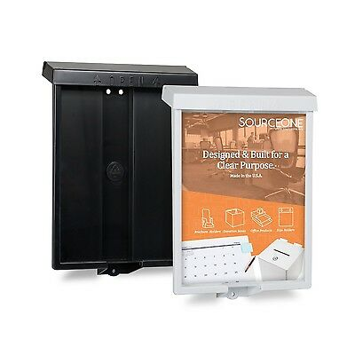 Source One Outdoor Realtor Style Brochure Holder Color Variety White or Black...
