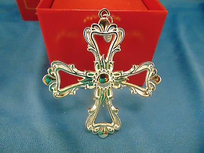 Reed & Barton Christmas Ornament Classic Cross #5014 silverplated keepsake