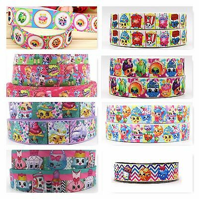Grosgrain Ribbon - 7/8 Inch - 22 mm - Print by the Metre - Shopkins