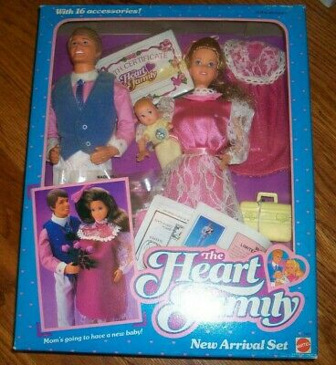 The Heart Family New Arrival Set Doll Family 1985