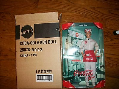 Coca Cola Soda Jerk Ken Limited Edition 2000 Doll NO Shipper RARE