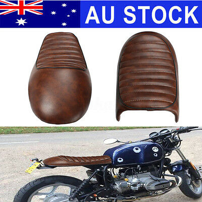 AU Brown Hump Durable Cafe Racer Seat Vintage Saddle For Honda CB350 CB450 CB750