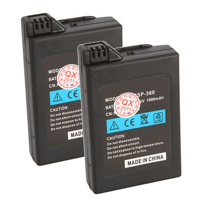 2X 1800mah 3.6V Li-Ion Rechargeable Battery for Sony PSP 1001 1000 High Quality