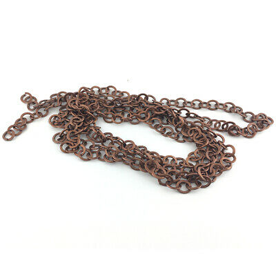 Continuous Length 2 Metres Red Copper Metal Alloy 10mm Cable Chain CH2325
