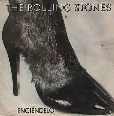 "THE ROLLING STONES - Enciendelo - r@re Spanish 7"" single 45 PS Spain 1981"