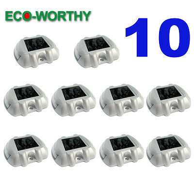10 Pack Solar LED Markers Pathway Driveway Light Lighting Path Step Road Safety