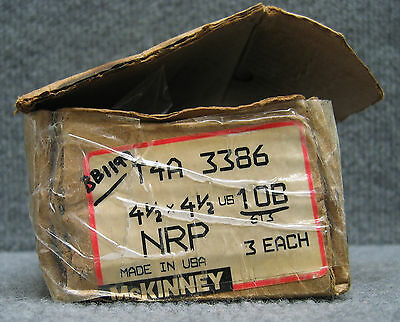 McKINNEY T4A3386 / T4A 3386 4-1/2 X 4-1/2 SELLING AS '1 LOT QTY OF 3 HINGES'