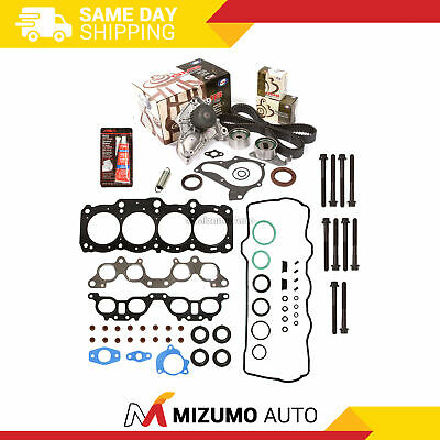 Fit Head Gasket Set Timing Belt Kit Bolts Water Pump 97-01 Toyota Camry 5SFE